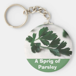 A Sprig of Parsley Basic Round Button Key Ring