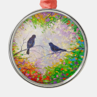 A spring tune Silver-Colored round decoration