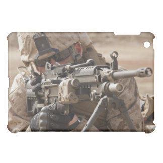 A squad automatic weapon gunner provides securi iPad mini cover