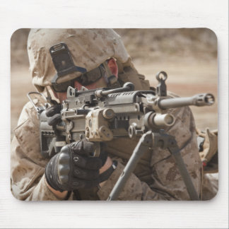 A squad automatic weapon gunner provides securi mouse mat