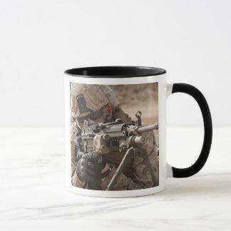 A squad automatic weapon gunner provides securi mug