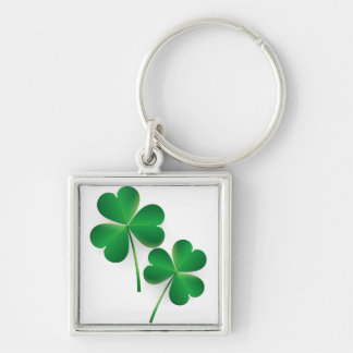 A St. Patrick's Day Green Shamrock Keychains