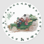 A St Patrick's Day Jaunt in Green Convertible Sticker