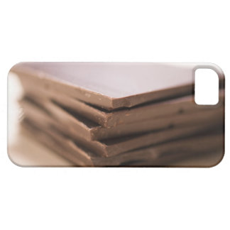 A stack of baker's chocolate ready to be chopped case for the iPhone 5