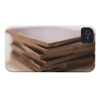 A stack of baker's chocolate ready to be chopped Case-Mate iPhone 4 cases