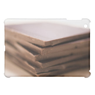 A stack of baker's chocolate ready to be chopped iPad mini cover
