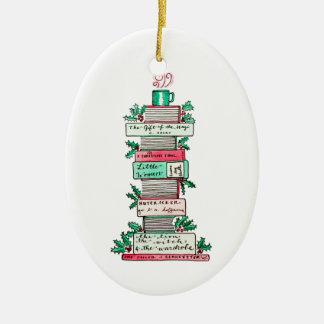 A Stack of Holiday Classics Christmas Ornament