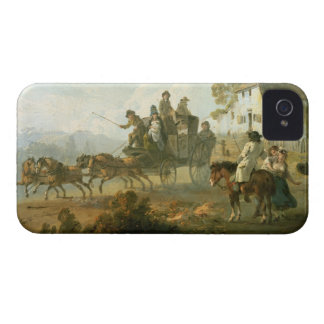 A Stage Coach on a Country Road, 1792 (oil on pane iPhone 4 Case