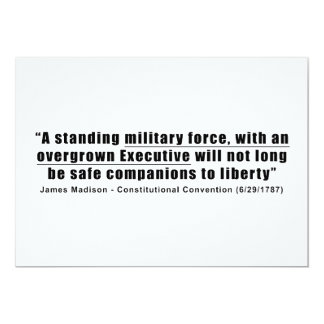 A Standing Military Force an Overgrown Executive 13 Cm X 18 Cm Invitation Card