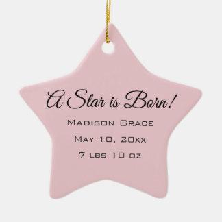 A Star is Born! Customized Photo/NameStar Ornament