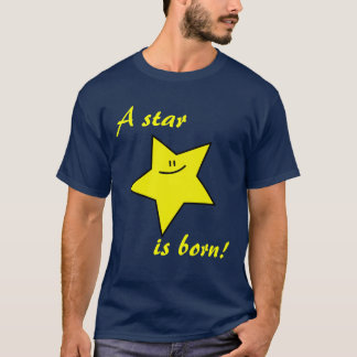 A star is born dark t-shirt (customizable)