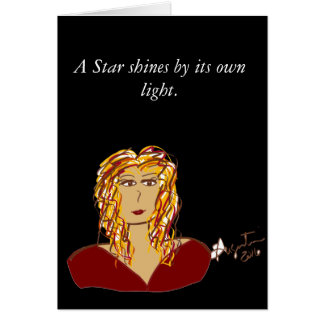 A Star shines by its own light note card w/env