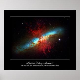 A Starburst Galaxy - Messier 82 (Cigar Galaxy) Poster