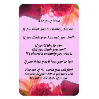 A State of Mind Poem Magnet