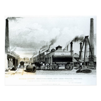 A Steam-Engine Manufactory and Iron Works Postcard