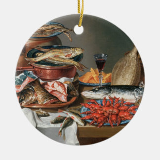 A Still Life of a Fish, Trout and Baby Lobsters, 1 Christmas Ornament