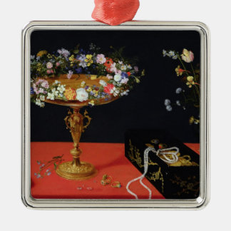 A Still Life of a Tazza with Flowers Christmas Ornament