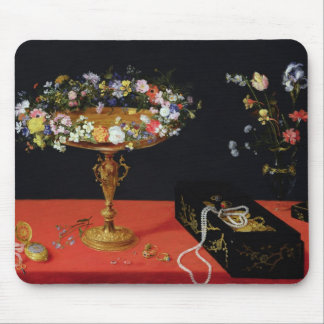 A Still Life of a Tazza with Flowers Mouse Pad