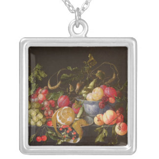 A Still Life of Fruit Silver Plated Necklace