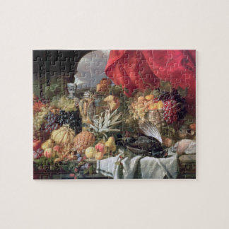 A Still Life of Game Birds and Numerous Fruits Jigsaw Puzzle