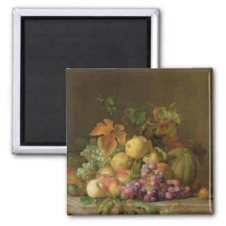 A Still Life of Melons, Grapes and Peaches Magnet