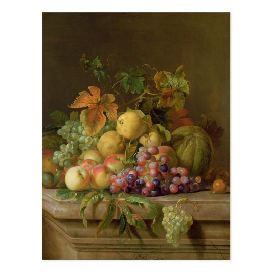 A Still Life of Melons, Grapes and Peaches