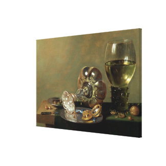 A still life with glass of wine canvas print
