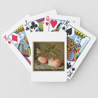 A Still Life with Roses on a Ledge Bicycle Playing Cards