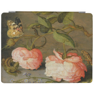 A Still Life with Roses on a Ledge iPad Cover