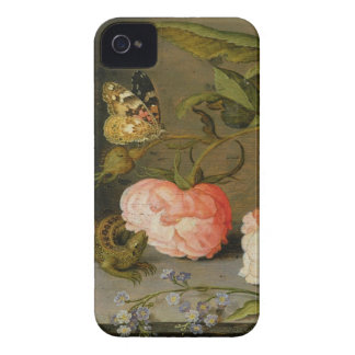A Still Life with Roses on a Ledge iPhone 4 Covers