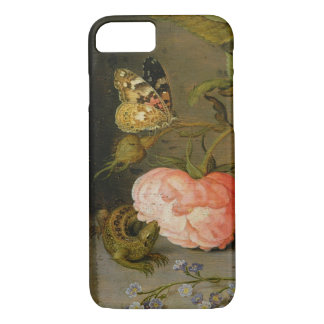 A Still Life with Roses on a Ledge iPhone 7 Case