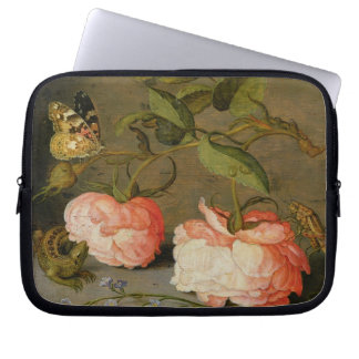 A Still Life with Roses on a Ledge Laptop Sleeve