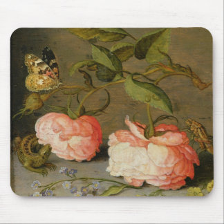 A Still Life with Roses on a Ledge Mouse Pads