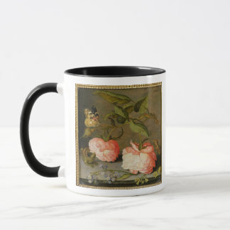 A Still Life with Roses on a Ledge Mug