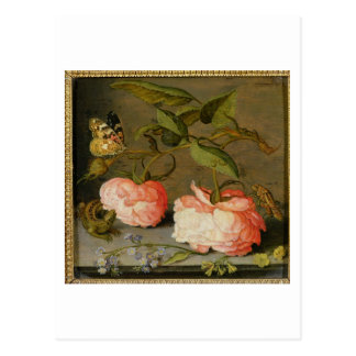 A Still Life with Roses on a Ledge Postcard