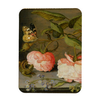 A Still Life with Roses on a Ledge Rectangular Photo Magnet