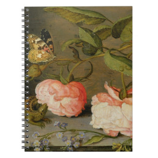 A Still Life with Roses on a Ledge Spiral Note Book