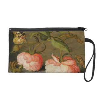 A Still Life with Roses on a Ledge Wristlets