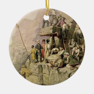A Stone Quarry, 1833 (colour litho) Christmas Ornament