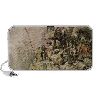 A Stone Quarry, 1833 (colour litho) Travelling Speaker