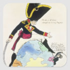 A Stoppage to a Stride over the Globe, 1803 Square Sticker