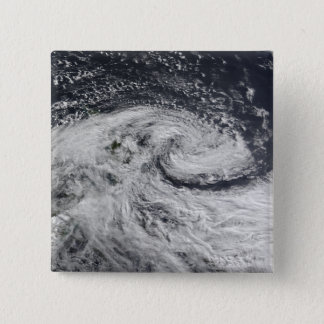 A storm over new Zealand 15 Cm Square Badge