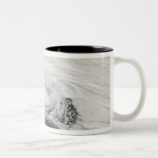 A storm over the Black Sea and the Sea of Azov Two-Tone Coffee Mug
