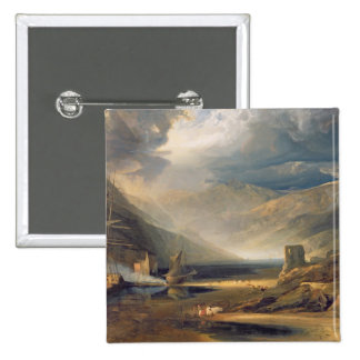 A Storm Passing Off on the Coast of Merionethshire 15 Cm Square Badge