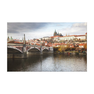 A stormy day in Prague souvenir photo Canvas Print