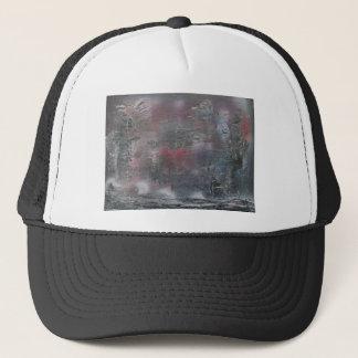 A stormy winter's night trucker hat