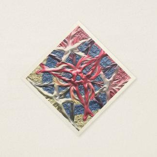 A strange cool pattern paper napkin