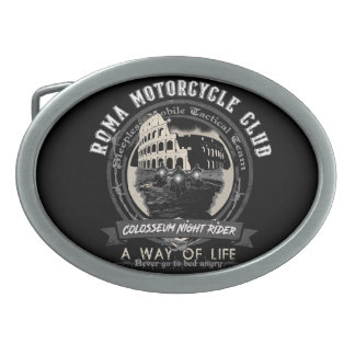A strange Motorcycle Club Oval Belt Buckle