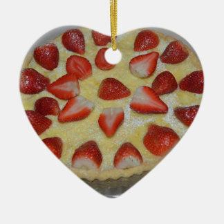 A strawberry cake christmas ornament