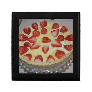 A strawberry cake gift box